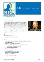 DGU News 3-06 - Deutsche Gesellschaft für Umwelterziehung