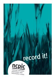 record it! - National Cannabis Prevention and Information Centre ...