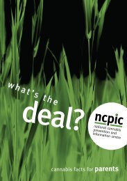 what's the - National Cannabis Prevention and Information Centre ...