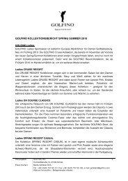 GOLFINO Kollektionsbericht Spring Summer  2010_dt_final