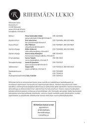Riihimäen lukion Opinto-opas 2013-2014 - Riihimäki