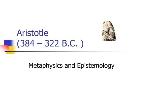 metaphysics vs epistemology