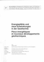 Energiepfãhle und neue Entwicklungen in der Geothermie ... - SGBF