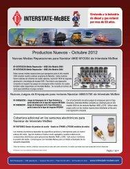 Productos Nuevos - Octubre 2012 - Interstate McBee