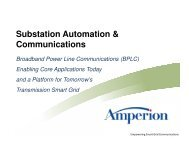 Substation Automation & Communications - Amperion
