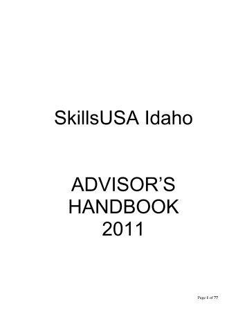 SkillsUSA Idaho ADVISOR'S HANDBOOK 2011 - Idaho Professional ...