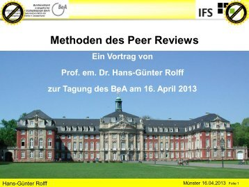 Methoden des peer reviews (PDF ca. 880 KB)
