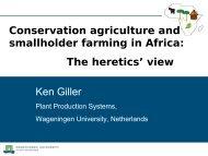 Ken Giller Conservation agriculture and ... - Fondation FARM