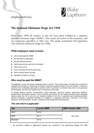 why have a minimum wage Most employers must pay their workers at least the federal minimum wage.