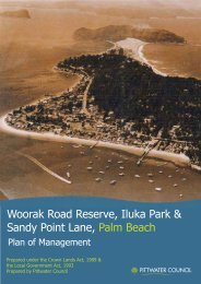 Woorak Road Reserve, Iluka Park & Sandy Point Lane, Palm Beach