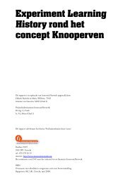 Learning History rond het concept Knooperven - Transitiepraktijk