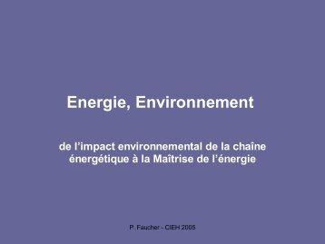 Energie, Environnement - CIEH