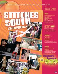STITCHES South 2013 Show Book - Knitting Universe