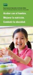 Acabar con el hambre. Mejorar la nutrición. Combatir la obesidad.