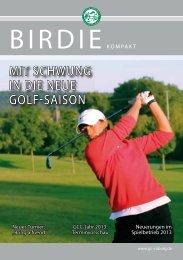 BIRDIE kompakt 2013 - Golf-Club Coburg Schloss Tambach eV