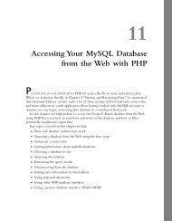 11 Accessing Your MySQL Database from the Web with PHP ...