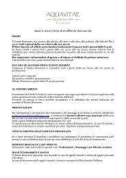 Scarica il menu dei trattamenti del Centro Benessere Aquavitae ...