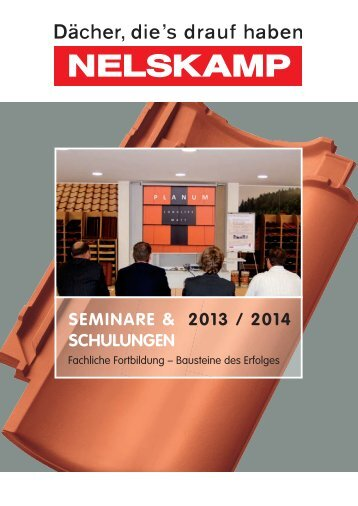 SEMINARE & SCHULUNGEN 2013 - Nelskamp