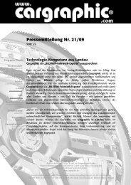 21/09 Technologie-Kompetenz aus Landau - Cargraphic