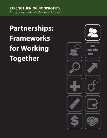 Partnerships: Frameworks for Working Together - Strengthening