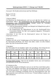 Kinderparlament 2010/11 - 5. Sitzung vom 17.06.2011 Anwesend ...