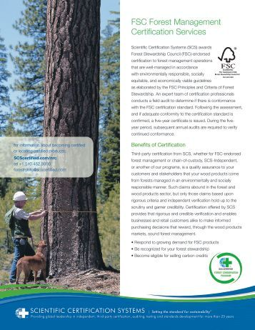 FSC Forest Management Certification by SCS - SCS Global Services