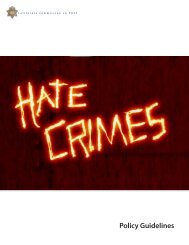 Hate Crimes Policy Guidelines - State of California
