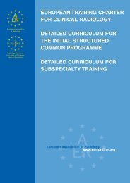 EUROPEAN TRAINING CHARTER FOR CLINICAL RADIOLOGY ...