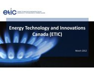 Energy Technology and Innovations Canada