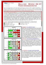 Winter 06/07 - Institut de tourisme - HES-SO Valais
