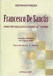 Giovanni Freddi Francesco De Sanctis Maestro dell'educazione ...
