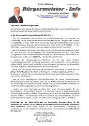 Bürgermeister - Info - Gemeinde Reißeck