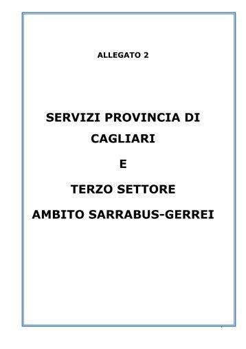 Sarrabus Gerrei 2012-2014 Allegato - Sociale - Provincia di Cagliari