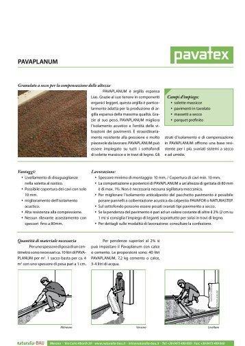 Pavaplanum - scheda tecnica - Naturalia Bau