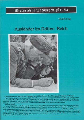 Nr. 83 - Siegfried Egel - Auslaender im Dritten Reich