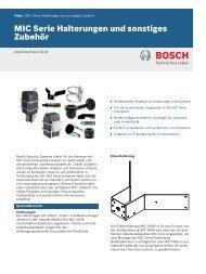 MIC Serie Halterungen und sonstiges - Bosch Security Systems