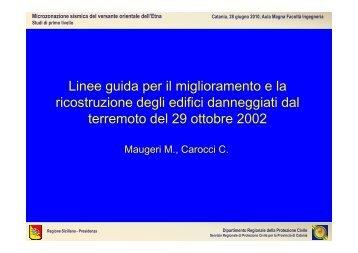 L'intervento del prof. Michele Maugeri