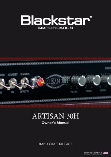Owner's Manual HAND-CRAFTED TONE - Blackstar Amplification