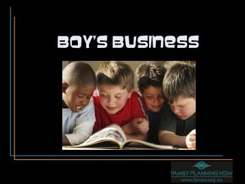 Boy's Business - Family Planning NSW