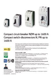 Compact circuit-breaker NZM up to 1600 A Compact switch ...