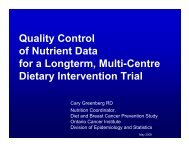 Quality Control of Nutrient Data for a Longterm, Multi-Centre Dietary ...