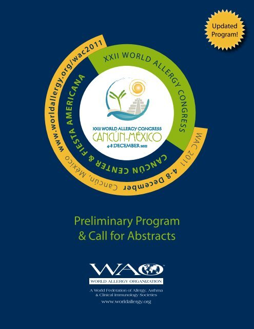 Preliminary Program & Call for Abstracts - World Allergy Organization