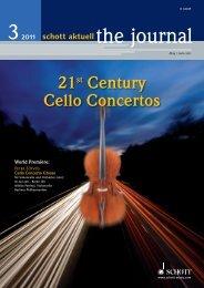 21st Century Cello Concertos - Schott Music
