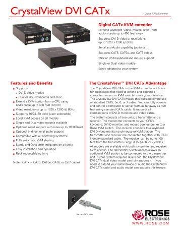 CrystalView DVI CATx Datasheet - Rose Electronics