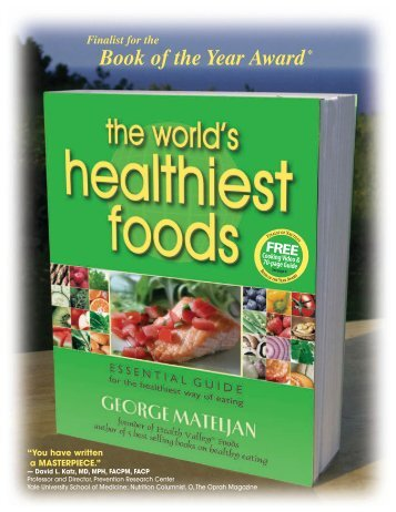 WHF flyer - The World's Healthiest Foods