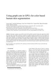 Using graph cuts in GPUs for color based human skin segmentation