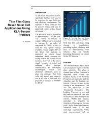 Thin Film Glass Based Solar Cell Applications Using ... - Intercovamex