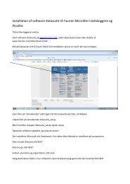 Installationsvejledning til Datasuite - Contika