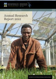 Annual Research Report 2012 - The UWA Institute of Agriculture ...