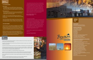 ANNUAL REPORT 2009 - Bowman County Development Corporation
